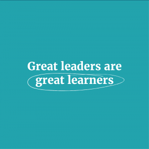 Great leaders are great learners