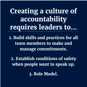 Creating a culture of accountability requires leadership